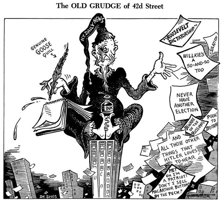 Dr. Seuss's World War II political cartoons were strongly