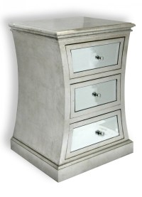 Silver Mirror Nightstand - 3 Drawer | Headboards ...