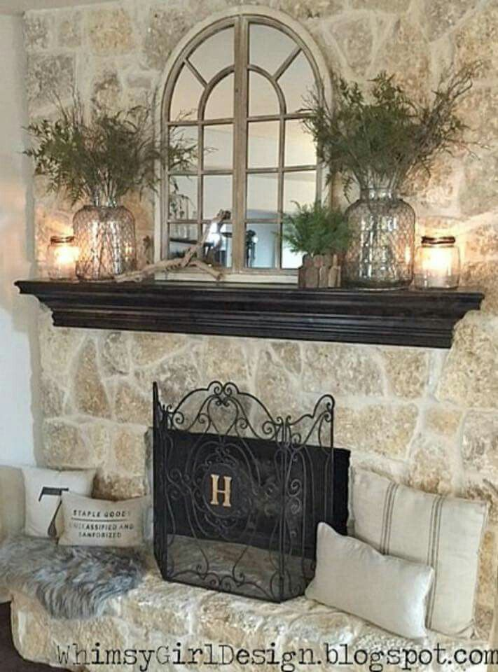 Fireplace Decoration With Edcdeacbbee Fireplace Design Fireplace Decorating: Mirror Over Fireplace | House | Pinterest