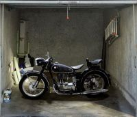 Decorating, Amazing Classic Motorcycle Garage Door Decals ...