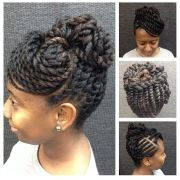 two strand twist updo