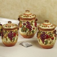 tuscan style dish set | Kitchen Canisters  Iron Furniture ...