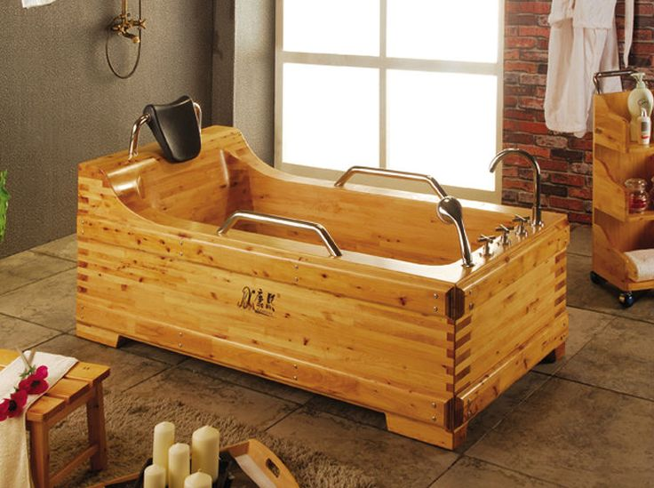 Wood Soaking TubWalk In Bathtub ChinaWooden Barrel Bath