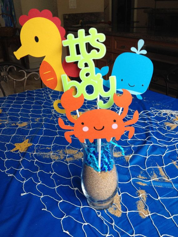 Under the Sea Baby Shower Centerpieces – IN STOCK AND READY TO SHIP.