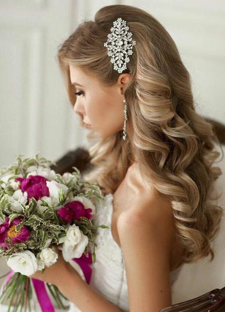 Die Besten 25 Hochzeitsfrisur Halboffen Ideen Auf Pinterest