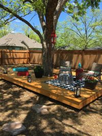 Floating deck around a tree. | Back yard | Pinterest ...