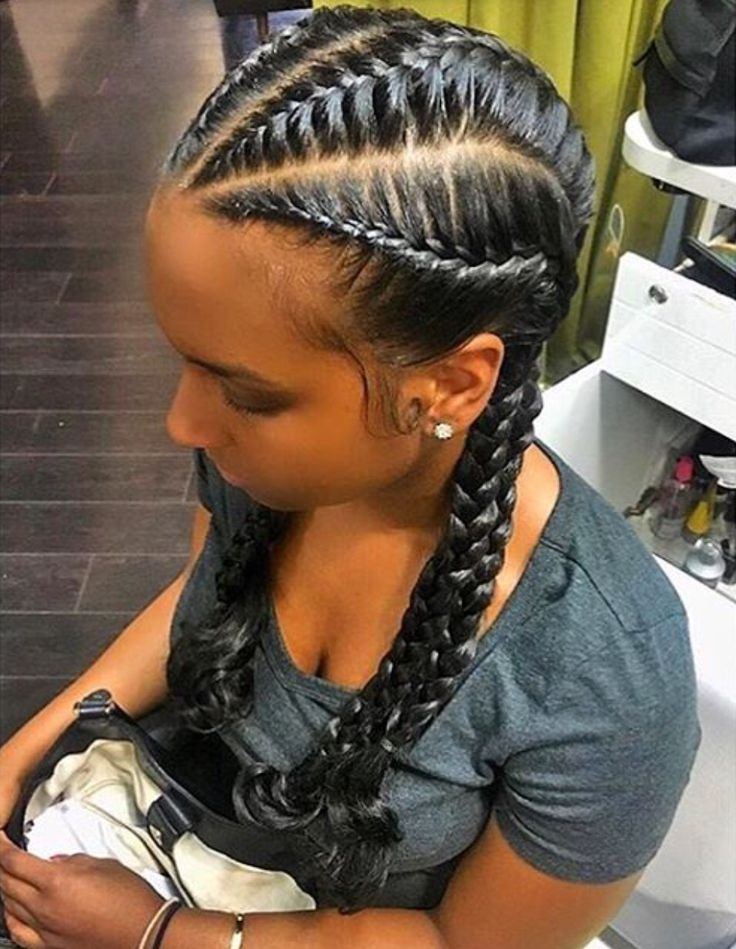 25+ best ideas about French Braids Black Hair on Pinterest