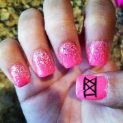 21st birthday nails nail