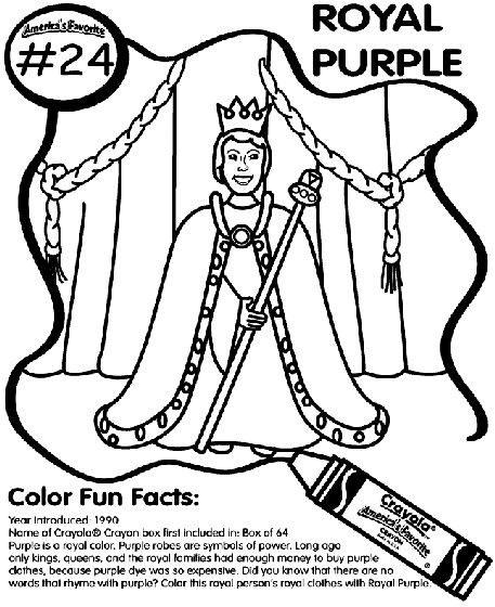 Purple Girl Scout Daisy Petal Coloring Sketch Coloring Page