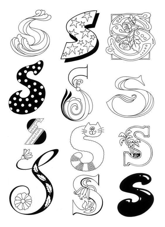 17 Best ideas about Different Letter Fonts on Pinterest