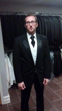 Flat white vest black tie   Wedding Suits   Pinterest ...