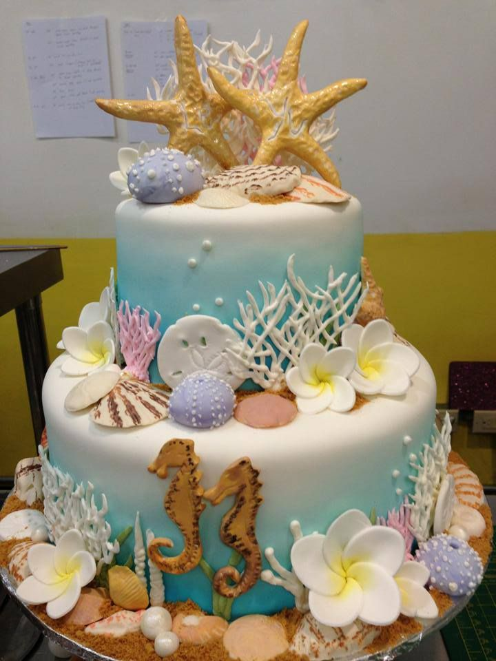 4101 Best Beach And Sea Cakes Images On Pinterest