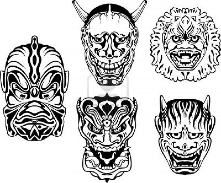Masks Vector Set Royalty Free Stock Images