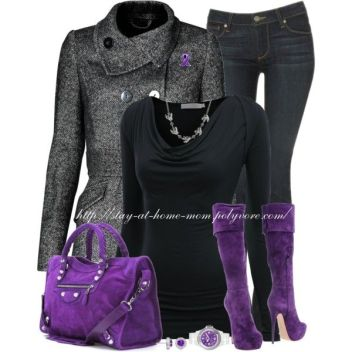 """Domestic Violence Awareness Month(October)"" by stay-at-home-mom on Polyvore:"