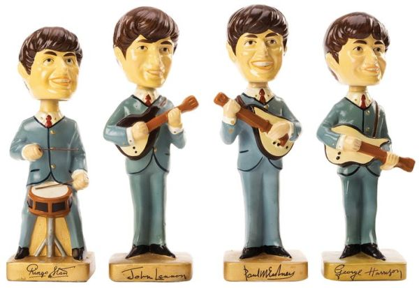 Vintage complete set of 4 The Beatles Bobbleheads