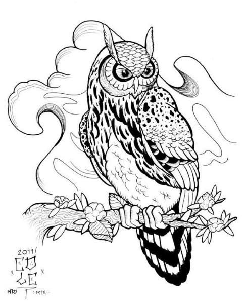 23 best images about Owls (tattoo design) on Pinterest