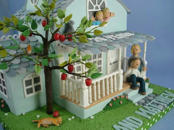 The 176 Best Images About Houses Fondant Cakes On Pinterest Tree