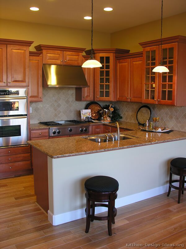 43 best images about GoldenBrown Kitchens on Pinterest  Traditional Dark wood and Medium kitchen