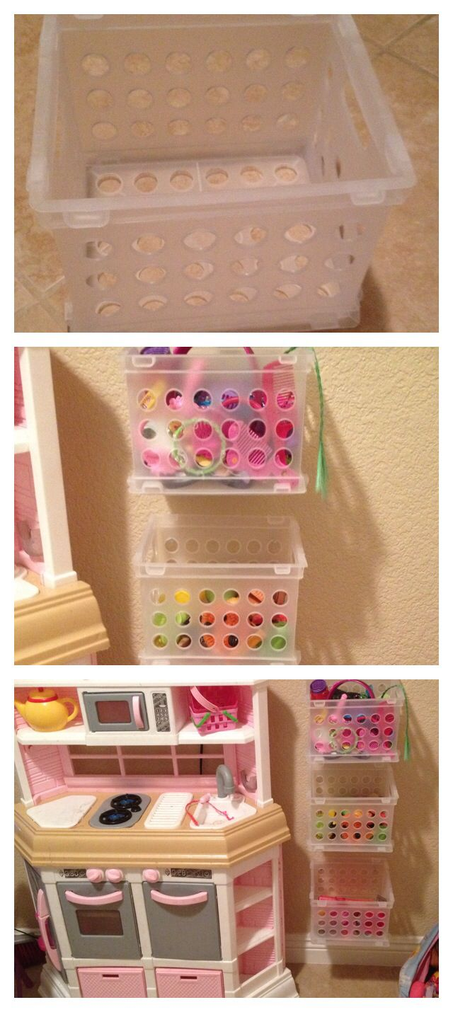 childrens toy kitchen black storage cabinet i got little crates from the 99cent store and made this ...
