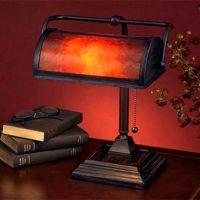 Mica Mission Craftsman Bankers Desk Lamp