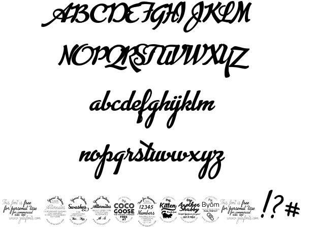 Advertising Script font by ZetaFonts http://www.fontriver