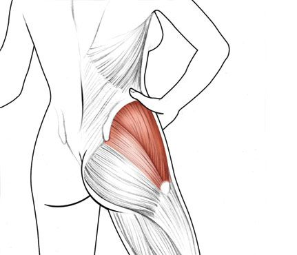 You Want: A Butt Dimple |Target: The gluteus medius Why it works: You may think you're defining your booty doing routine squats