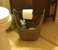 31 Magazine Basket used in a small bathroom as toilet roll ...