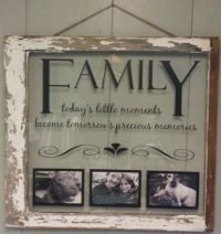 Vintage Window Single Pane Picture Frames Family Quote