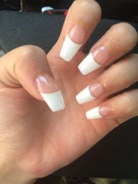 The 25+ best ideas about White Tip Nails on Pinterest