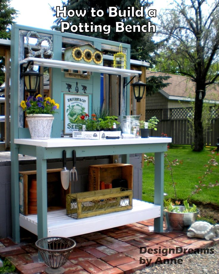 154 Best Images About POTTING BENCH IDEAS On Pinterest Outdoor