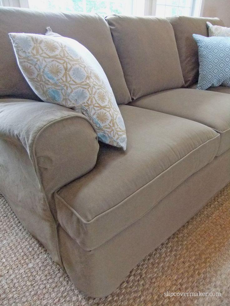 denim sectional sofa slipcovers tight back custom made slipcover in color burlap... a smart ...