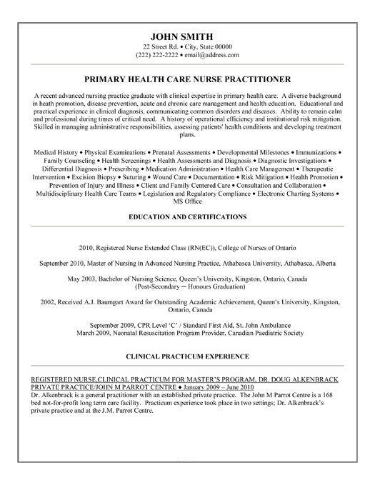 resume builder nursing