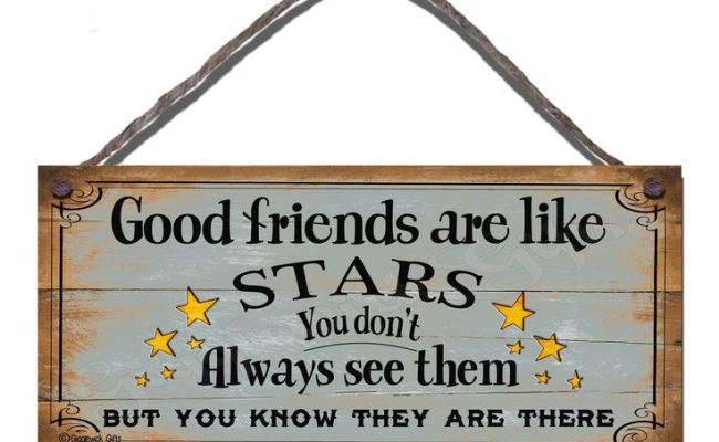 Shabby Chic Wooden Funny Sign Wall Plaque Good Friends Are