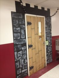 Classroom door decoration. #castle door #back to school # ...