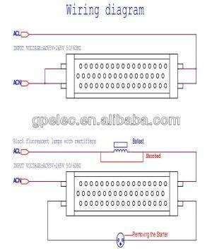 LED TUBE light wiring diagram | LED Tube Light | Pinterest