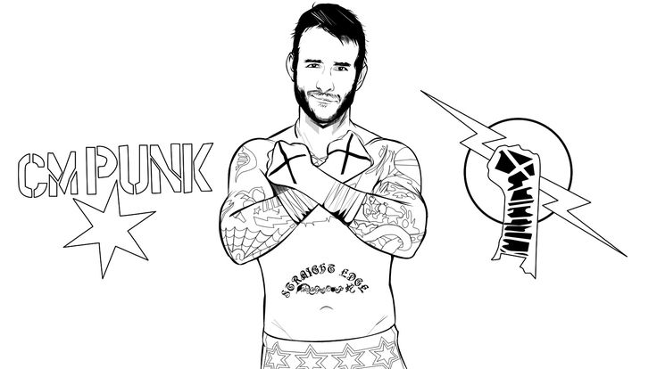 wwe cm punk colouring pages page id 61470 : Uncategorized