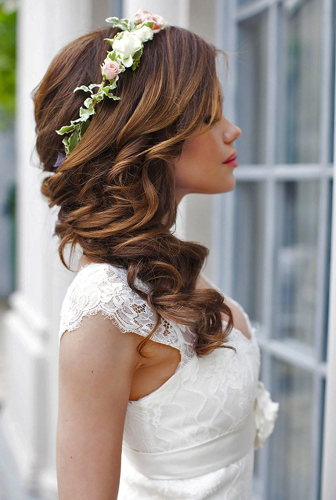 25 Best Ideas About Bride Hairstyles On Pinterest Half Up