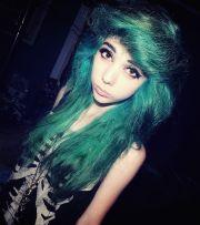 shades of green hair