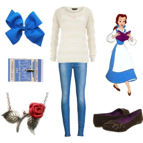 Casual Princesses – Belle disney princess inspired fashion beauty and the beast