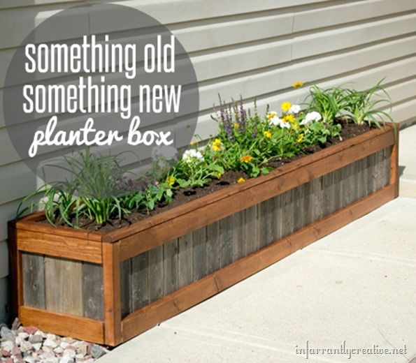Raised Planter Box Against House