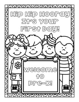 FREEBIE! Back to School Coloring Pages for Pre-K through