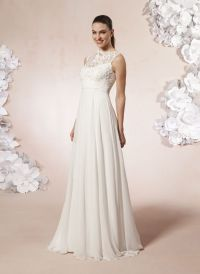 This wedding dress for older brides has great details FOR ...