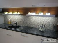 kitchen wall decoration instead of kitchen tiles, pattern ...