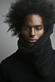 relaxed afro black men hair styles