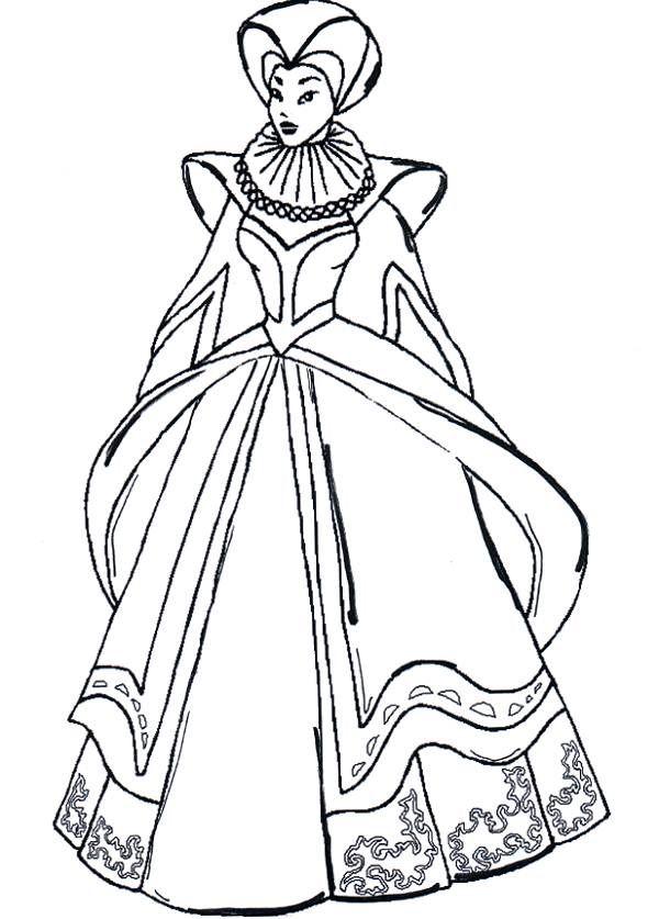 Lady Macbeth Drawing Sketch Coloring Page