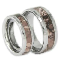 Couples Tree Camo Wedding Ring Set His and Hers Matching ...