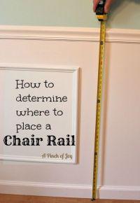 25+ best ideas about Chair Rail Molding on Pinterest