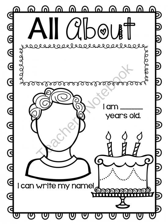 FREE All About ME Unit! from Teacher Twinkle Toes on