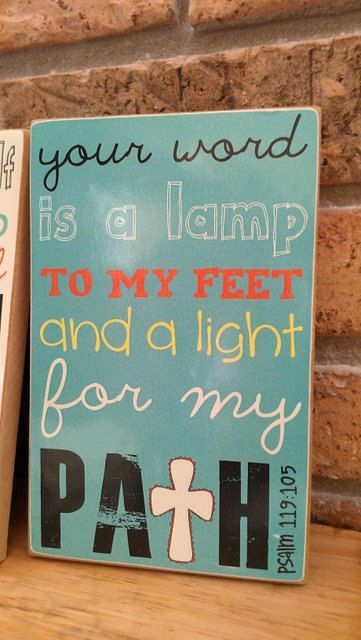 Scripture Art, Bible Verse Art, Faith Based Art, Psalm 119:105, 5×8 art print on