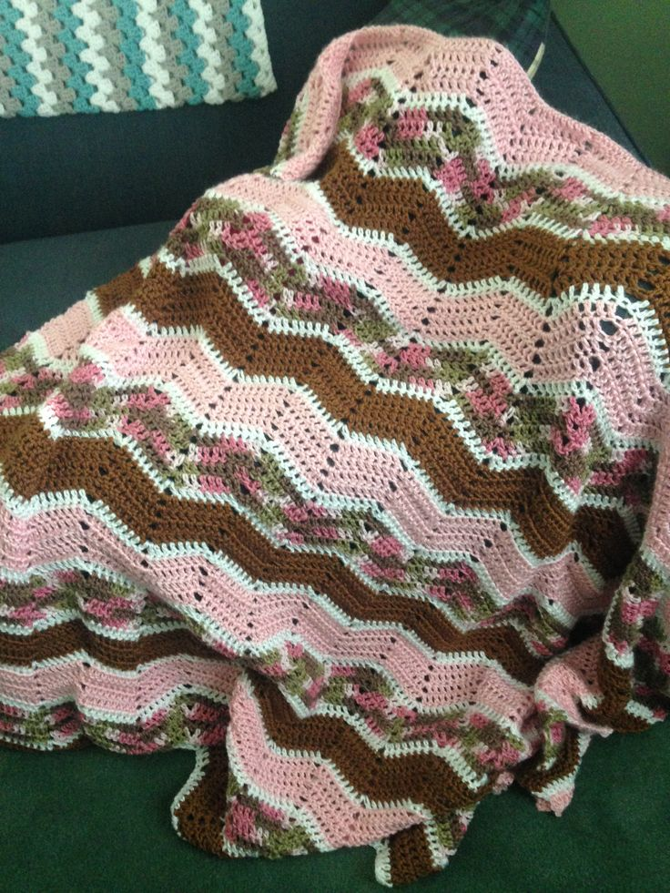 Pink Camo Crochet Blanket Crochet I Have Made
